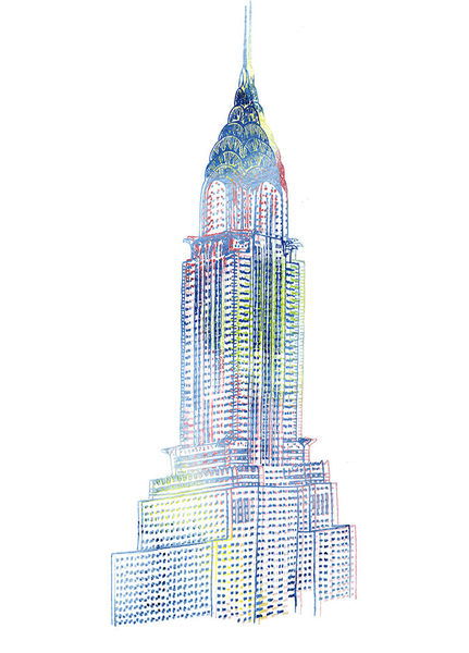 Chrysler Building Print by Rob Howell for C. Wonder-Proposal Only