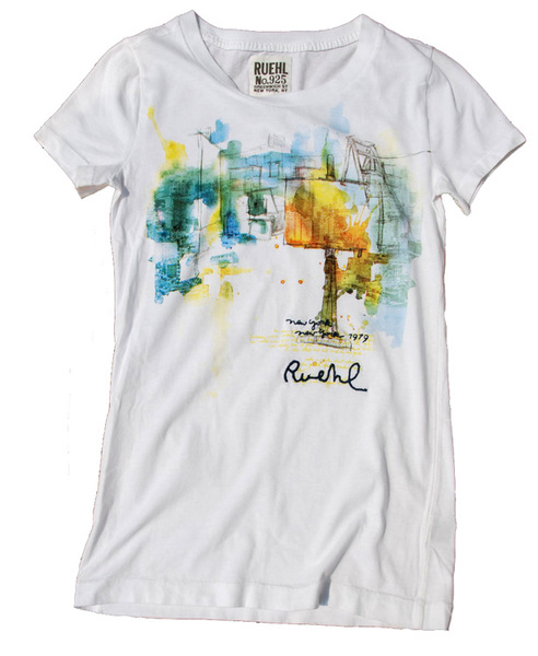Rob Howell-Painting Studio DUMBO NYC - Graphic Tee for RUEHL