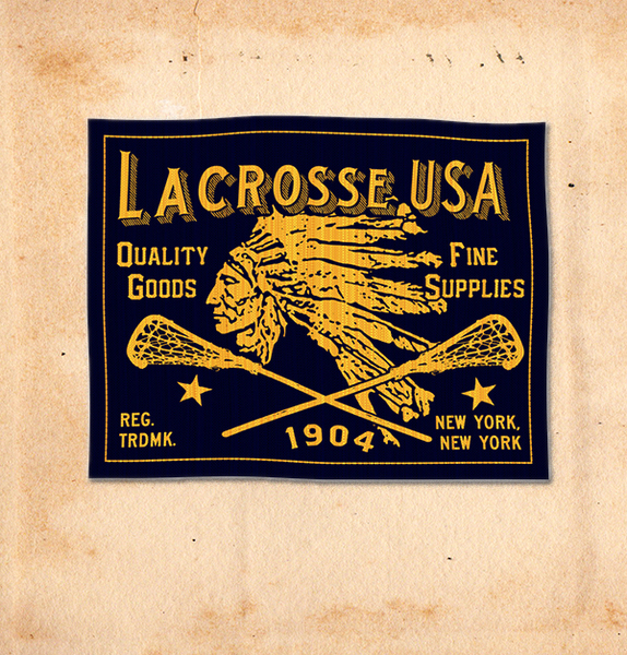 ROB HOWELL for LACROSSE USA-CHIEF ATHLETIC WOVEN LABEL
