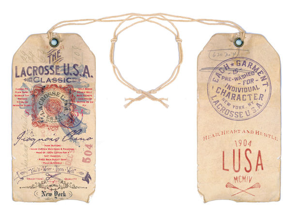 ROB HOWELL-Lacrosse USA Iroquois Chino Hangtag