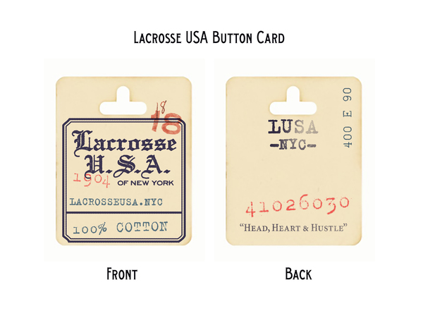 ROB HOWELL-Button Card for Lacrosse USA