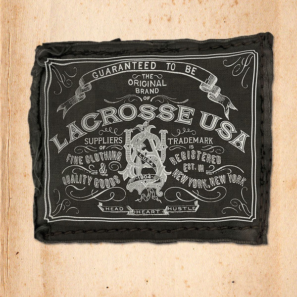 ROB HOWELL for LACROSSE USA-VINTAGE PRINTED CANVAS LABEL