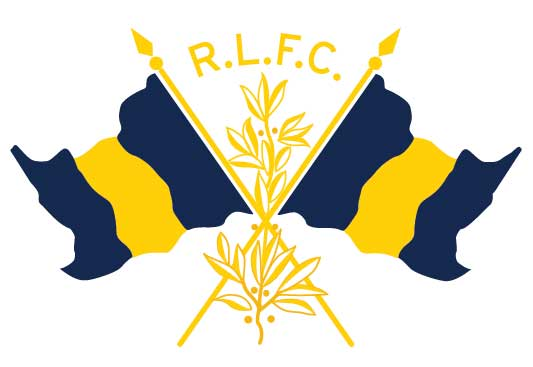 Rob Howell-R.L.F.C. CROSSED FLAGS for RUGBY