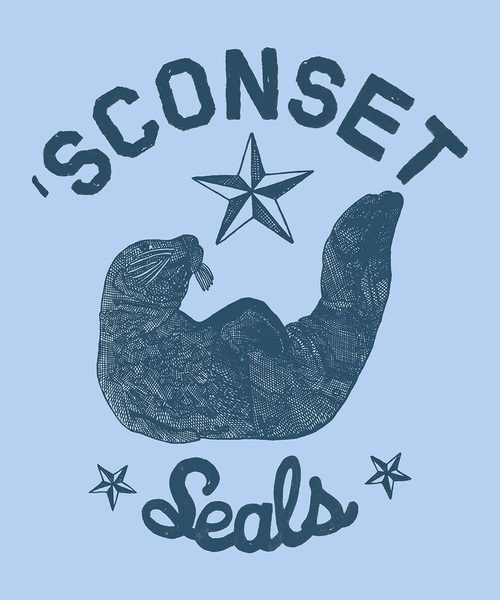 'Sconset Seals Tee and Print Design by Rob Howell