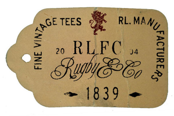 Rob Howell-Vintage Tee Hangtag for RUGBY