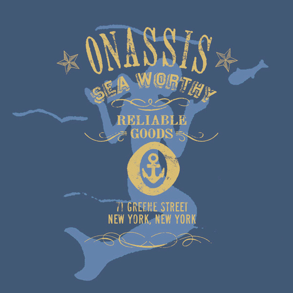 ROB HOWELL Mermaid Sea-Worthy Tee Graphic Proposal for ONASSIS