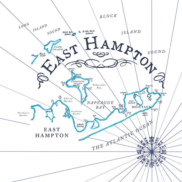 Rob Howell-East Hampton Vintage Map for C. Wonder-Proposal Stage
