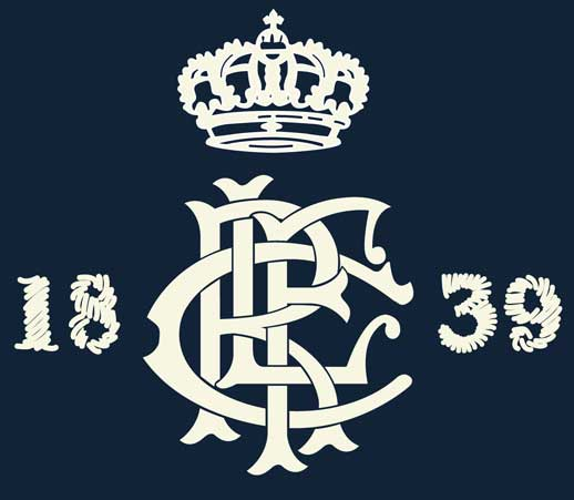 1839 CROWN MONOGRAM for RUGBY