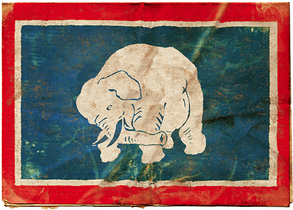 ROB HOWELL-GOP ELEPHANT FLAG FOR BROOKE AND STANTON