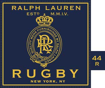 MEN'S Suit Label for RUGBY